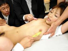 Yui Ayana gets get into somebody's pantsed hard by many horny guys