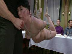Public Disgrace: Nerine Mechanique Served Up And Pounded At A Dinner Soiree