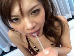 Sexy Japanese slut gets stuffed by 2 horny men