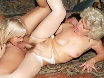 Chunky Grannies Having a Three Way