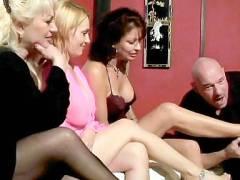 Horny Grannies Teasing a Lucky Guy
