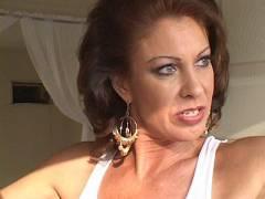 Sexy Brunette MILF Stripping
