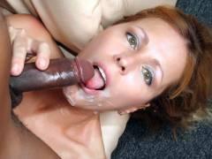 Blonde MILF Milking a Black Dick