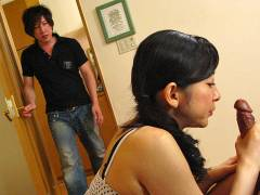 Dirty milf Emiko Koike enjoys threesome sex