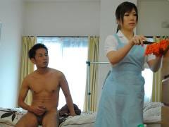 Hot house maid Nana Oshikiri gets a nice dick