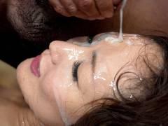 Super hot bukkake session with Miu Natsume