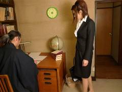Office lady got nailed in a private home