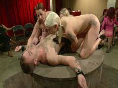 Divine Bitches: Live And Public Slave Humiliation, Degradation, Prostate Milking With Horny Sadistic