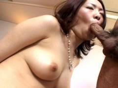 Horny hairy pussy Japanese hammered hard!